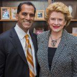 Dr. Patil with Senator Stabenow